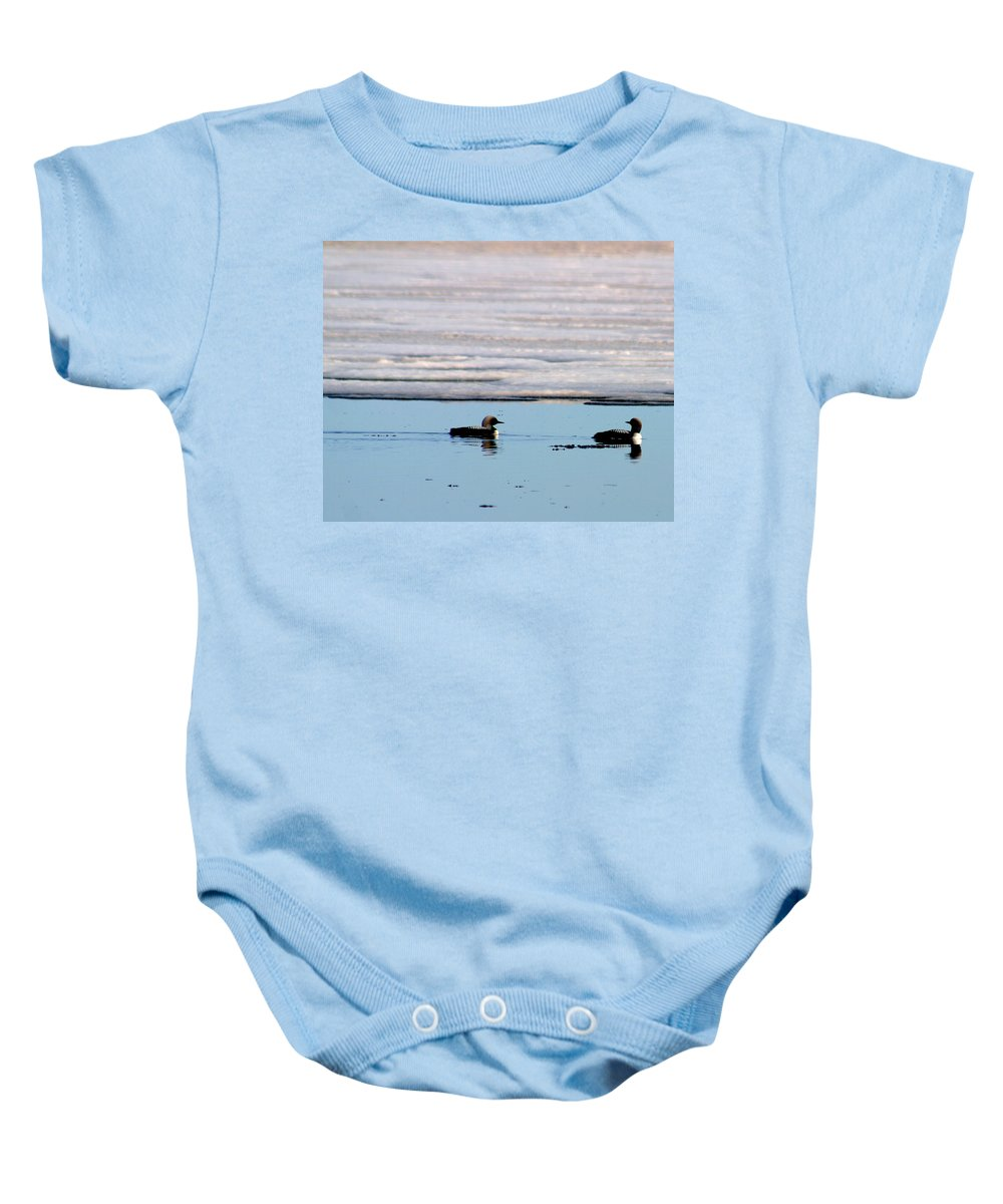 Loons Baby Onesie featuring the photograph Loon On The Arctic by Anthony Jones