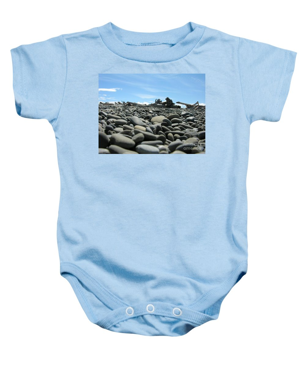 Rocks Baby Onesie featuring the photograph Lots Of Rocks by Diane Greco-Lesser