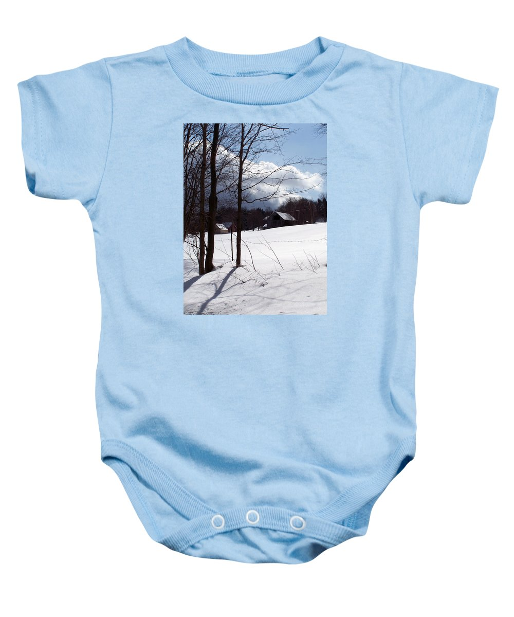 Stowe Baby Onesie featuring the photograph Louisen's Stowe 19 by Louise Haineault