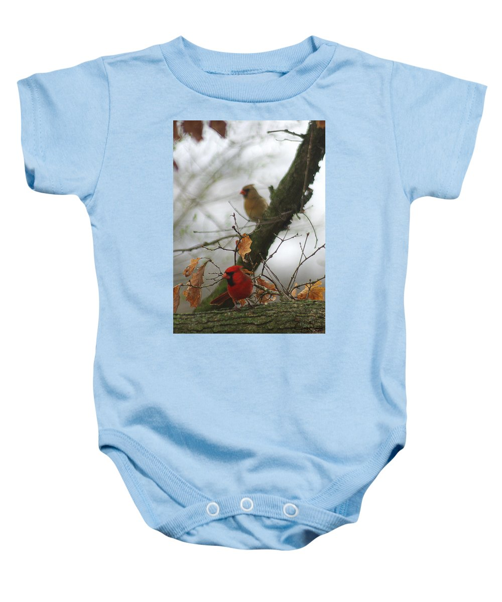 Jenny Gandert Baby Onesie featuring the photograph Love At First Sight by Jenny Gandert