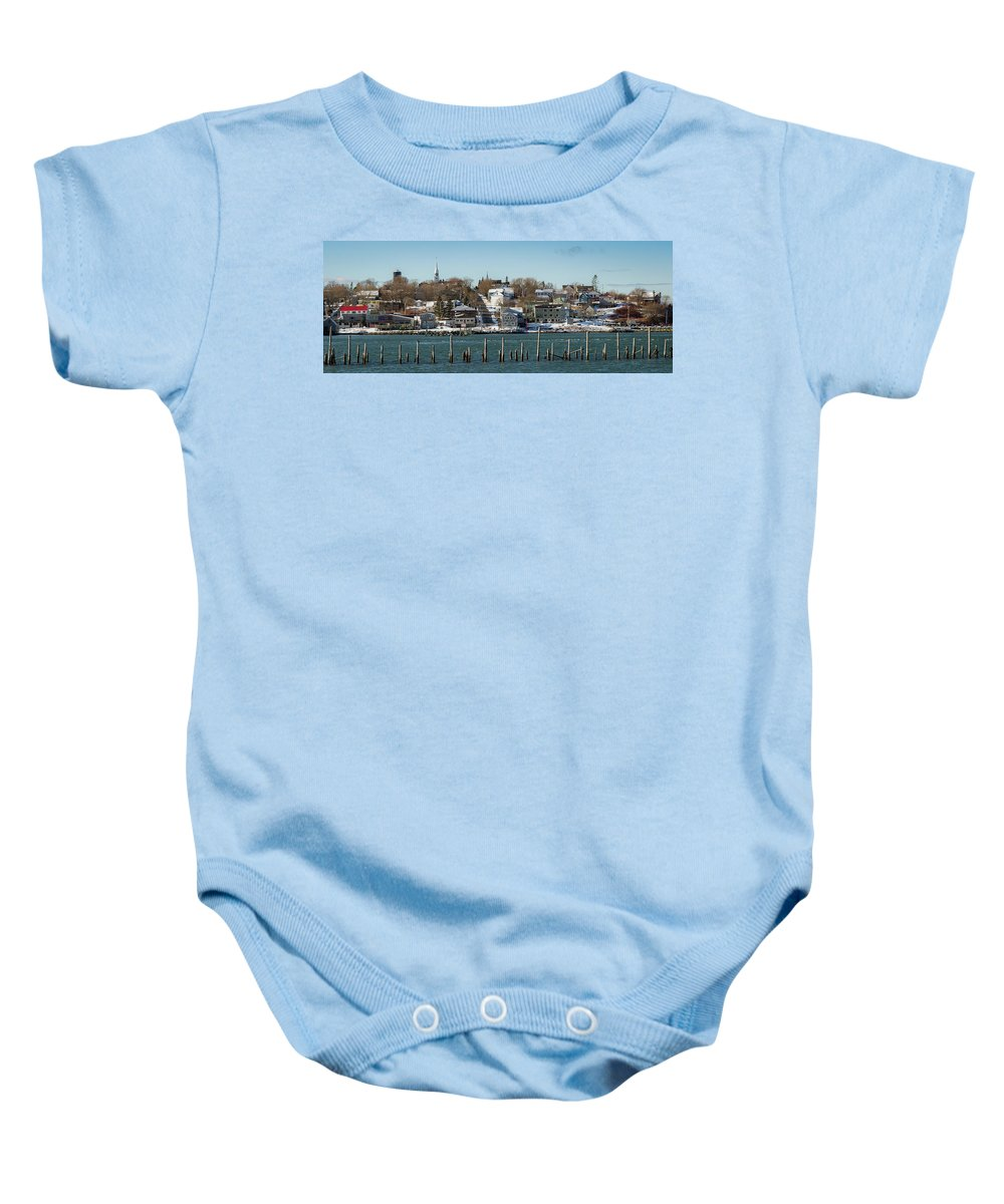 Landscape Baby Onesie featuring the photograph Lubec, Me. by Tom Mason