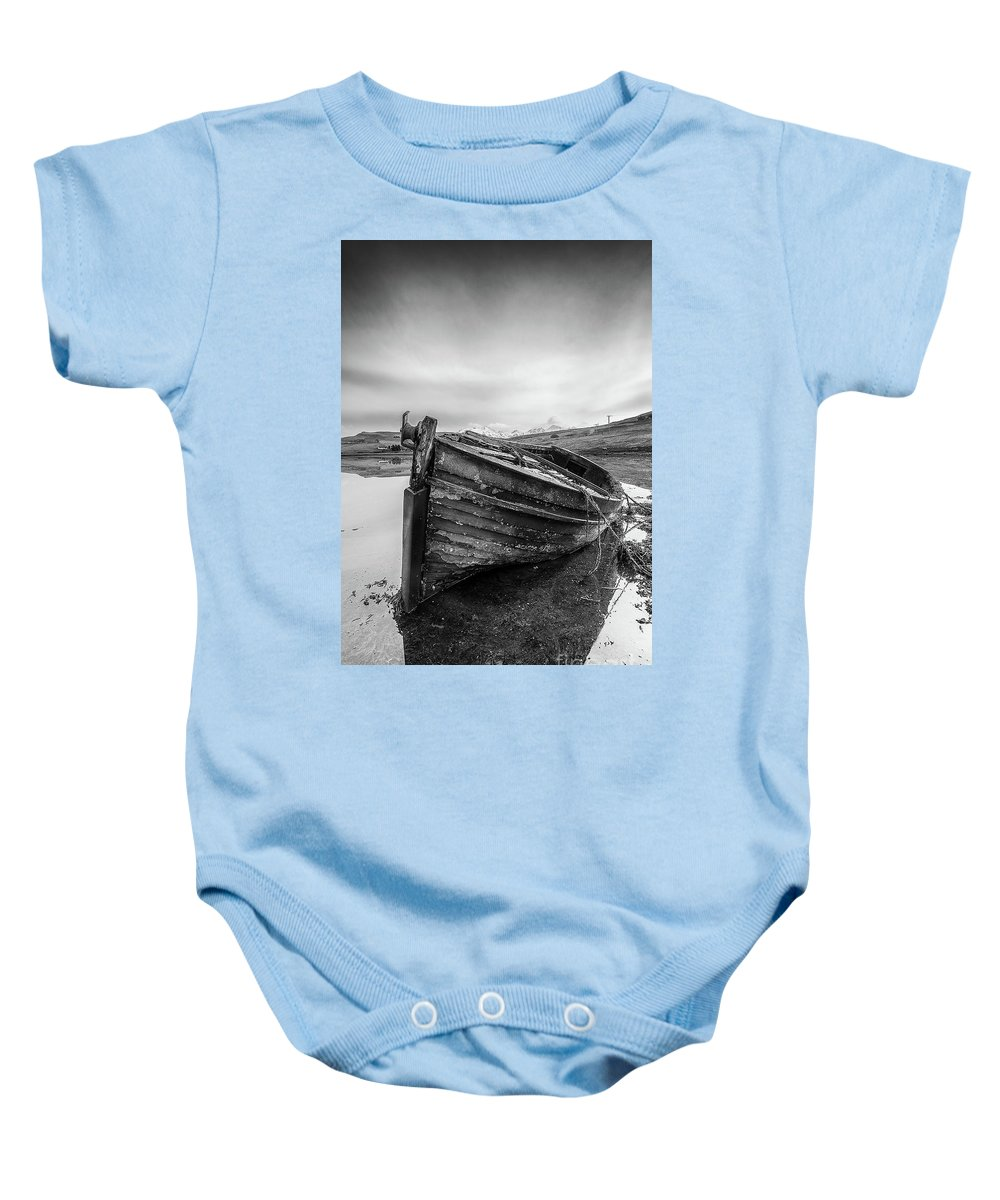 Macnab Bay Old Boat Baby Onesie featuring the photograph Macnab Bay Old Boat by Keith Thorburn LRPS AFIAP CPAGB