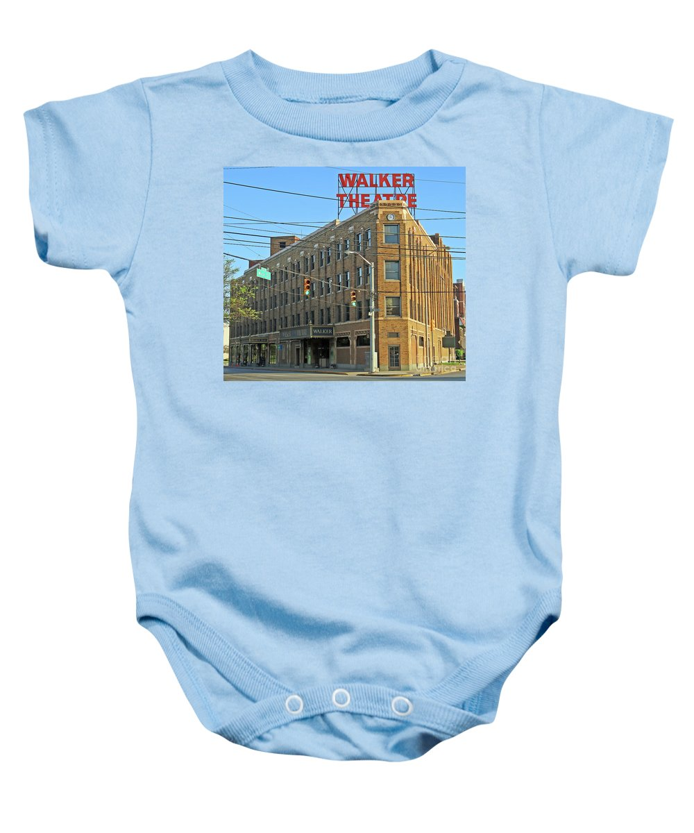 Indianapolis Baby Onesie featuring the photograph Madame Walker Theater, Indianapolis by Steve Gass