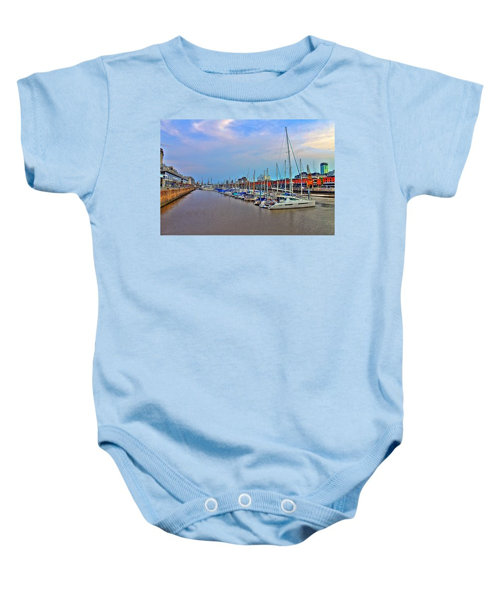 Buenos Baby Onesie featuring the photograph Madero Boat Yard by Francisco Colon