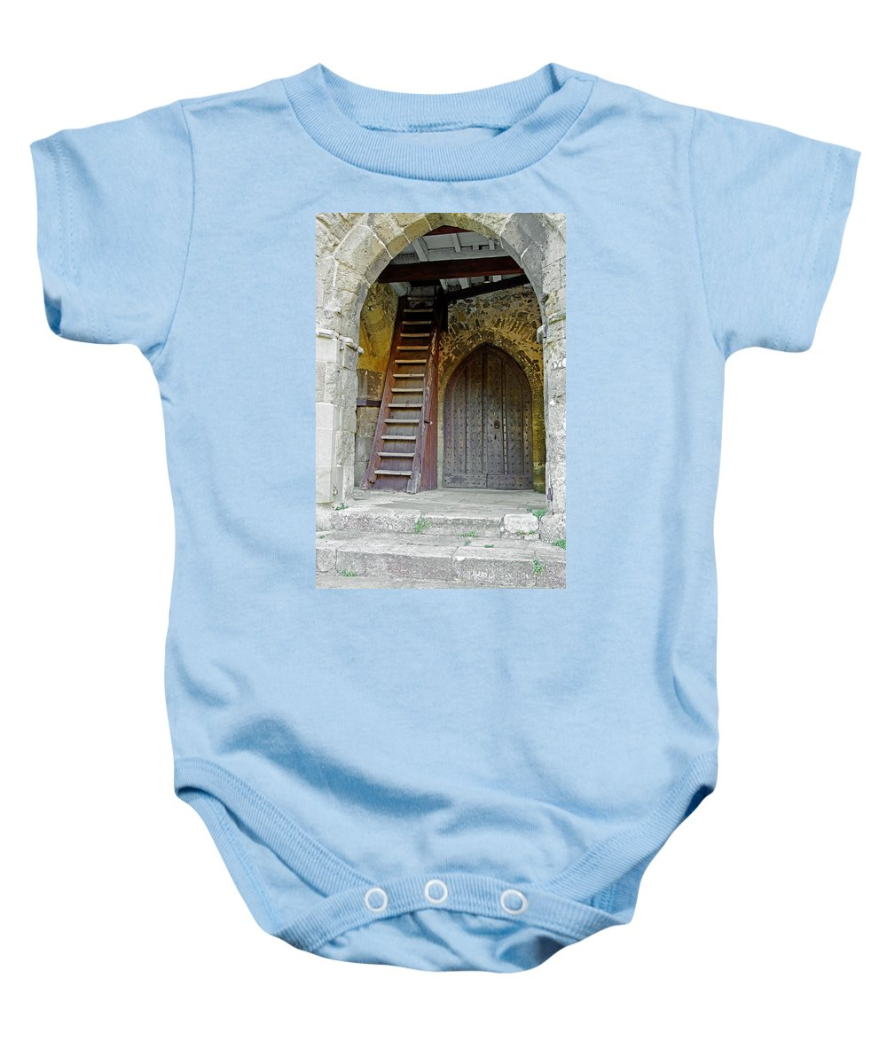 Isle Of Wight Baby Onesie featuring the photograph Main Entrance To St Mary's Church At Brading by Rod Johnson