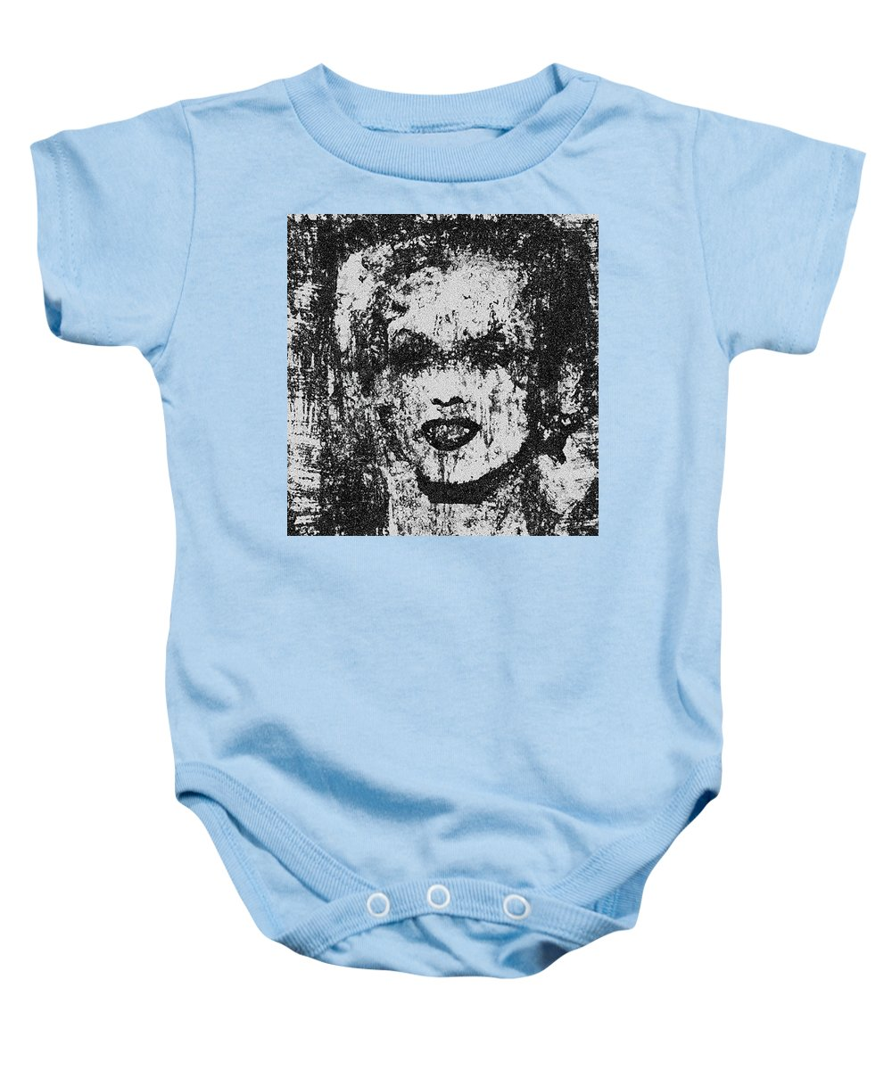 Better Than Warhol!!! Baby Onesie featuring the photograph Ugly Marilyn Monroe by Kamran Rouhani