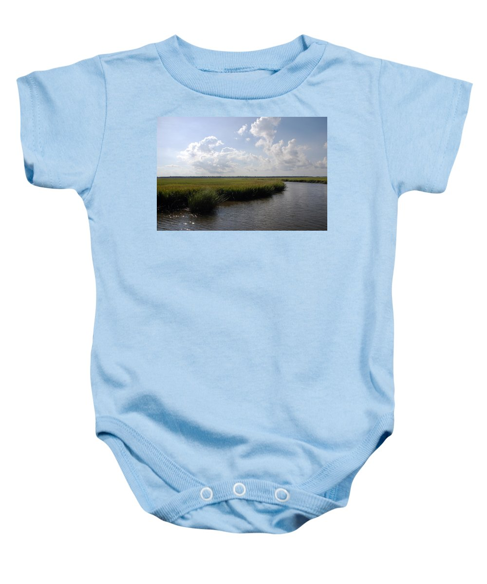 Photography Baby Onesie featuring the photograph Marsh Scene Charleston Sc II by Susanne Van Hulst