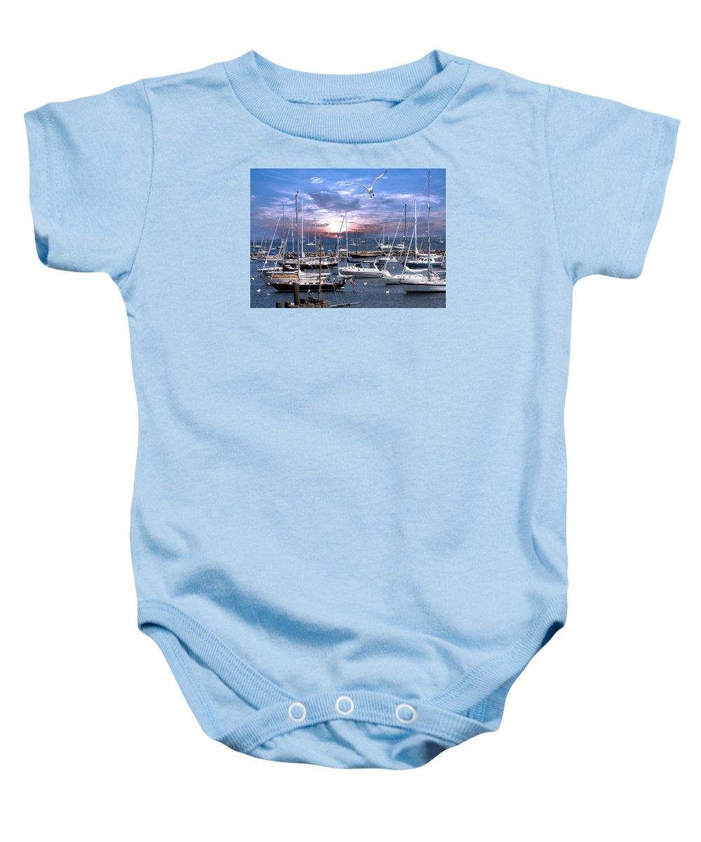 Landscape Baby Onesie featuring the photograph Martha's Vineyard by Bernard Fairclough