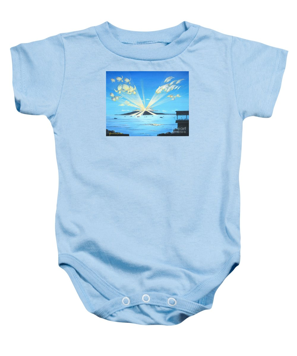 Maui Baby Onesie featuring the painting Maui Magic by Jerome Stumphauzer