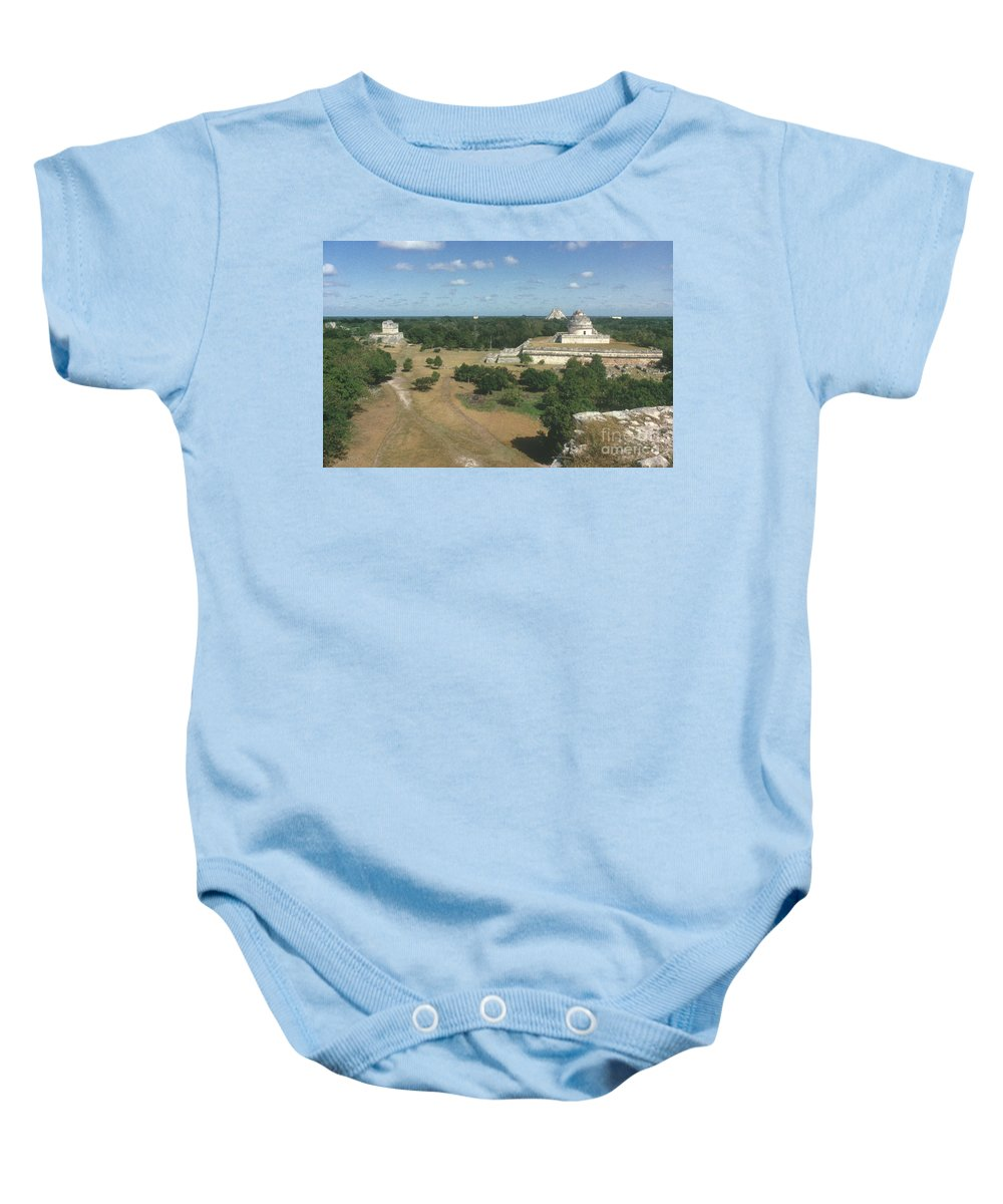 Ancient Baby Onesie featuring the photograph Mayan Observatory, Mexico by Granger