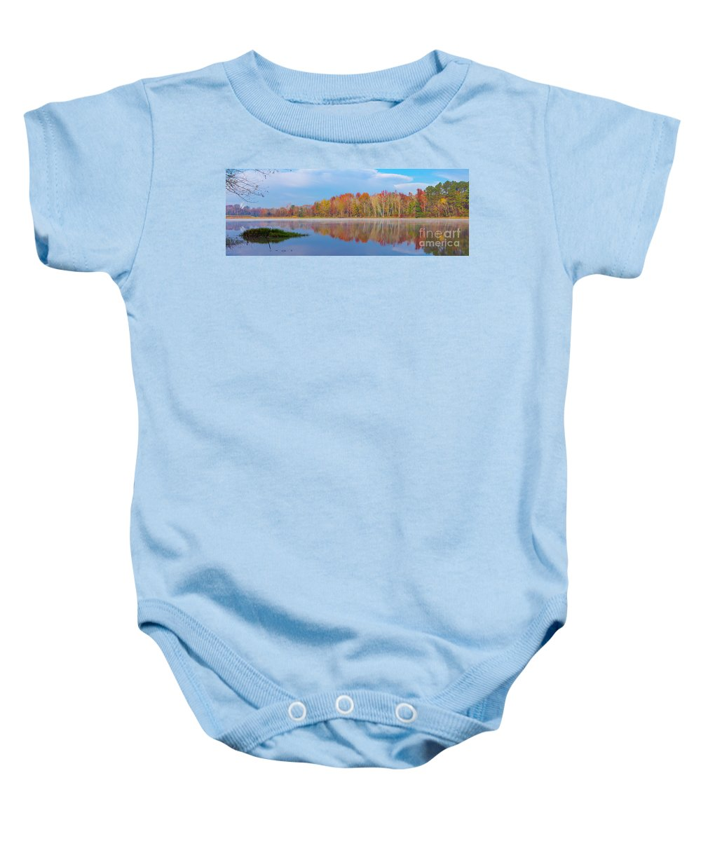 2017 Baby Onesie featuring the photograph Mayor's Pond, Autumn, #2 by Gregory Schultz