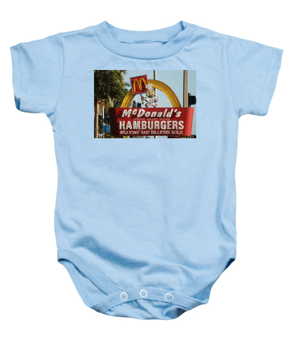 Mcdonalds Baby Onesie featuring the photograph Mc Donalds by Rob Hans