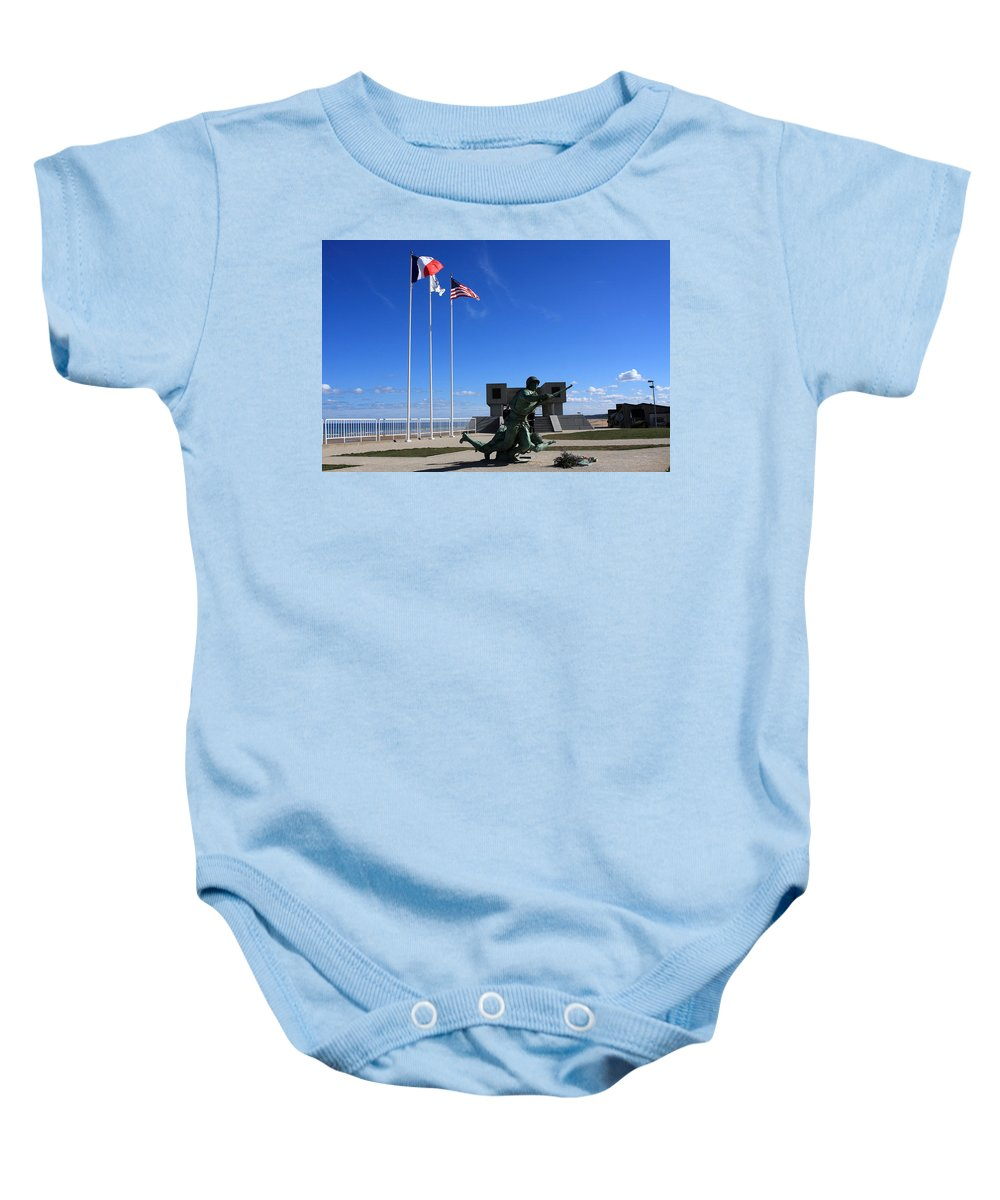 France Baby Onesie featuring the photograph Memorial To The Fallen Soldier by Aidan Moran