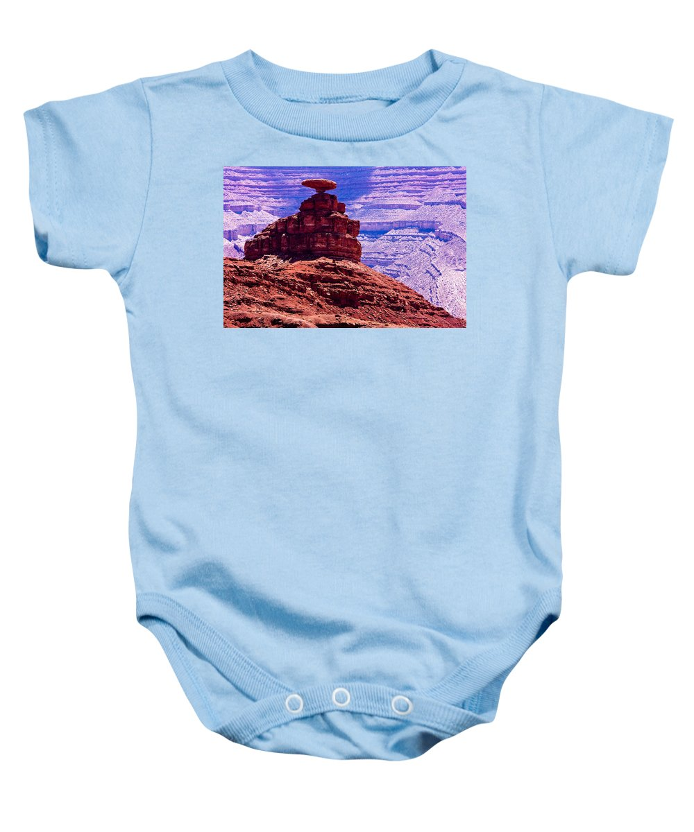 Mexican Hat Baby Onesie featuring the photograph Mexican Hat by James BO Insogna