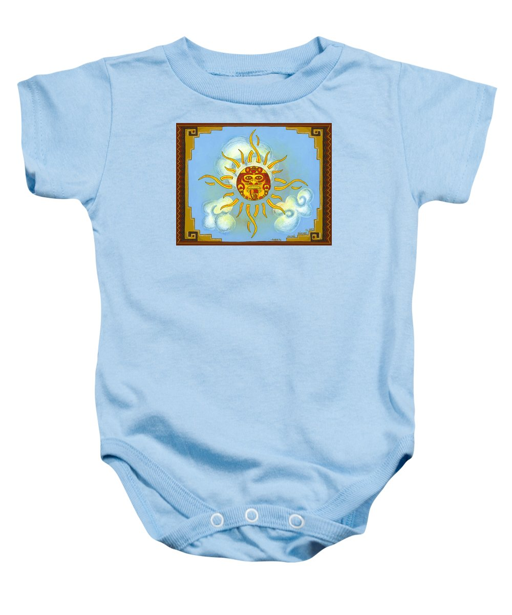 Mexico Baby Onesie featuring the painting Mi Sol by Roberto Valdes Sanchez