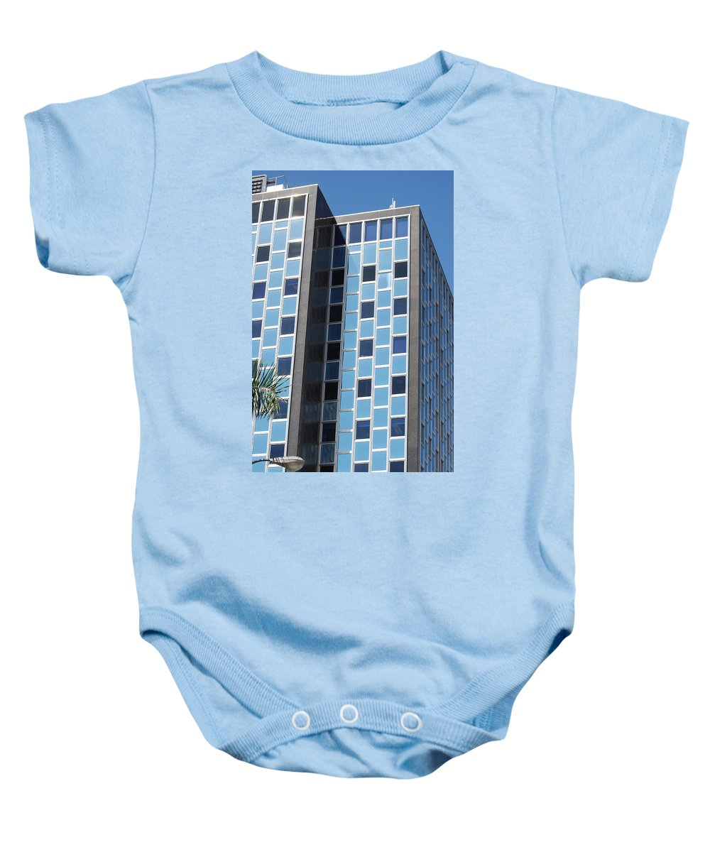 Architecture Baby Onesie featuring the photograph Miami Checker Board by Rob Hans