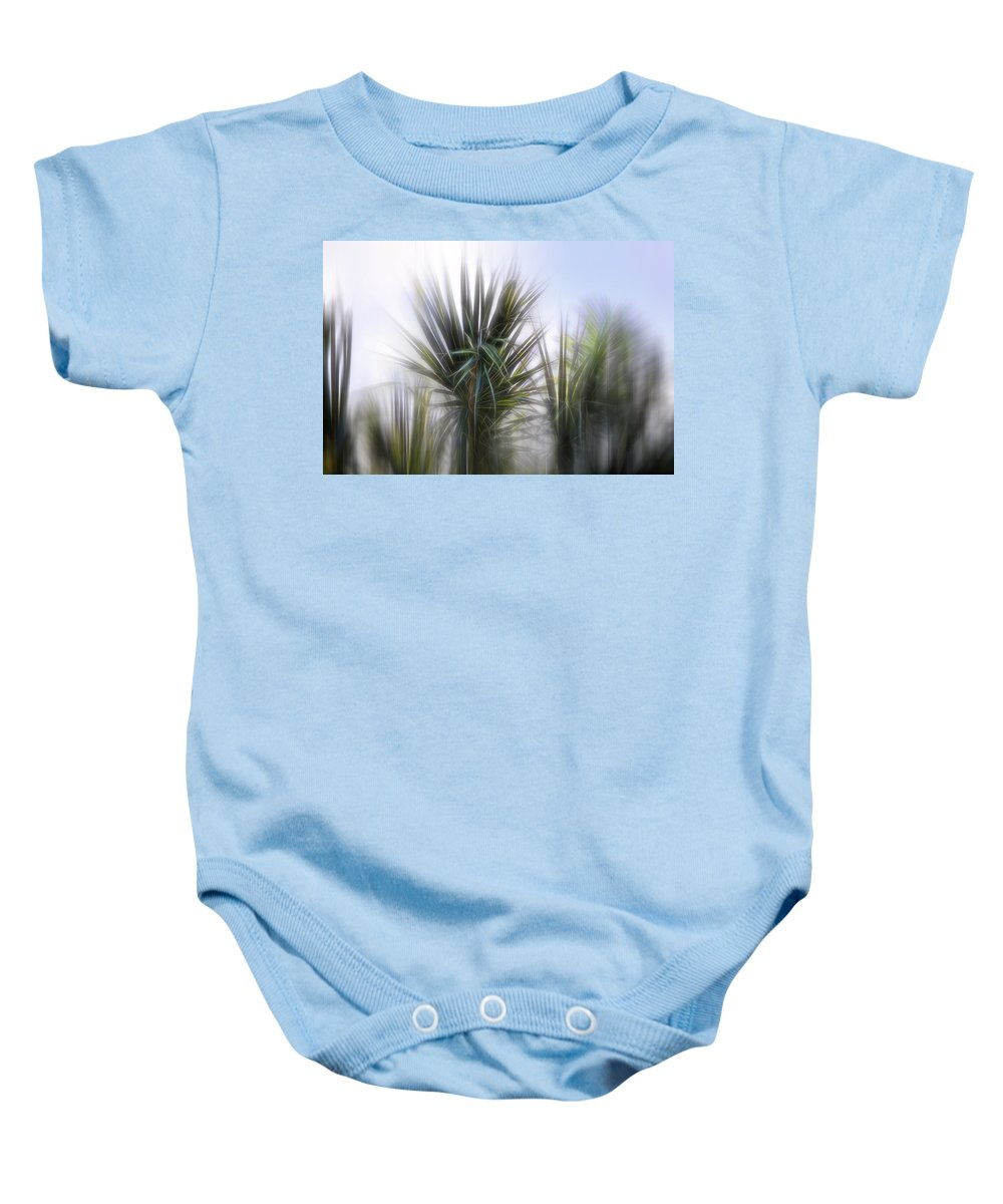 Evie Baby Onesie featuring the photograph Miami Palms by Evie Carrier