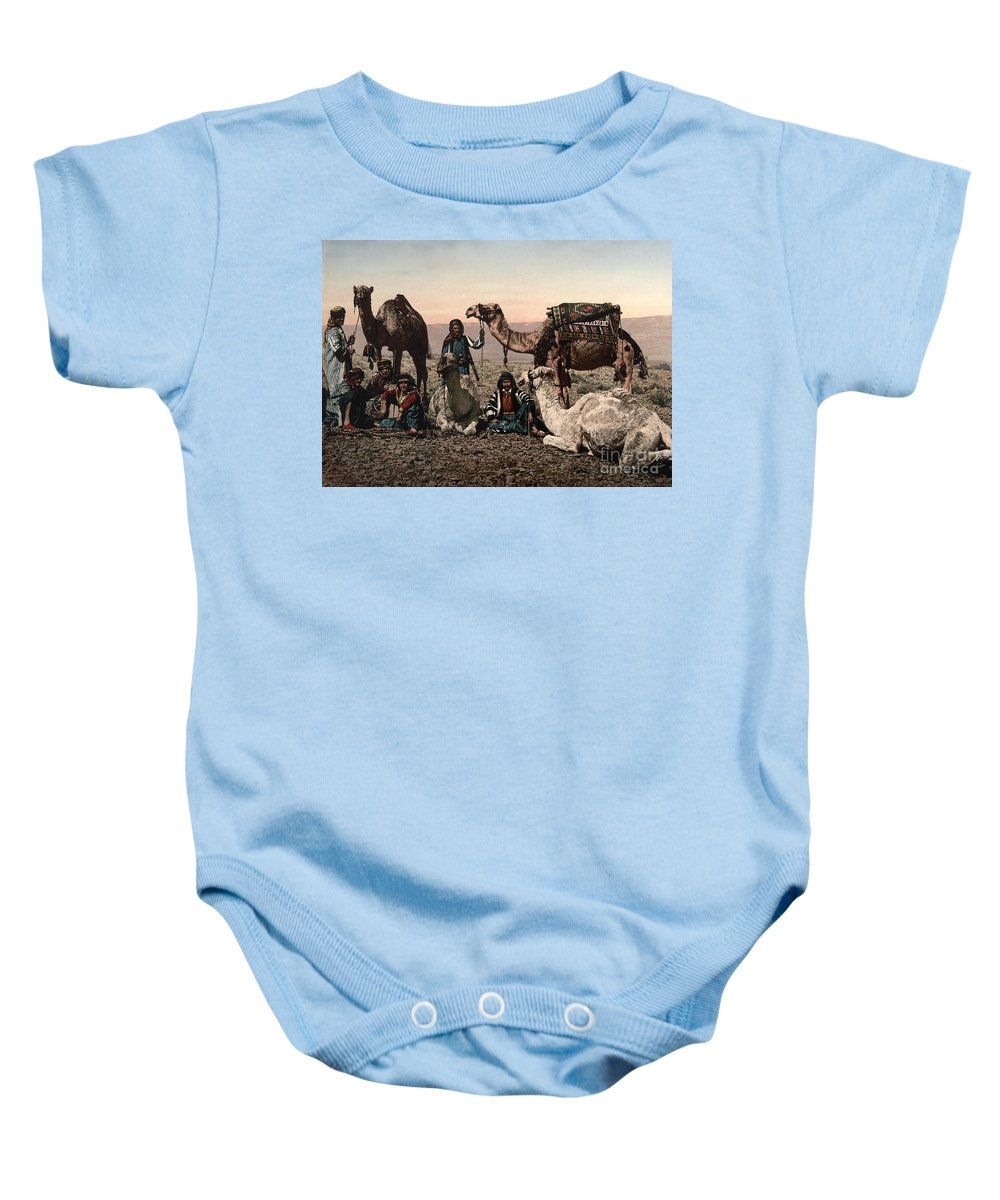 1890s Baby Onesie featuring the photograph Middle East: Travelers by Granger