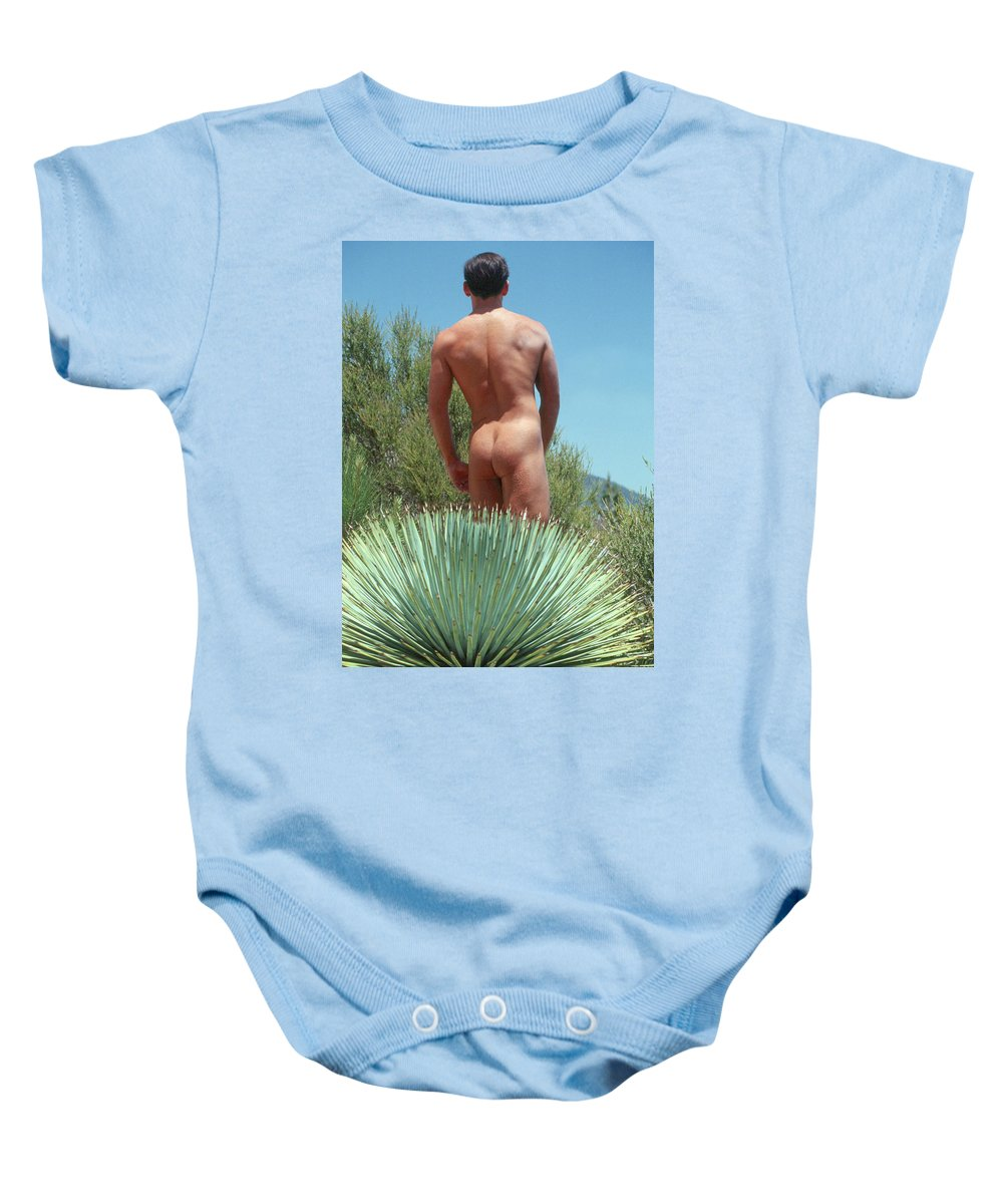 Male Baby Onesie featuring the photograph Mike L. 20 by Andy Shomock