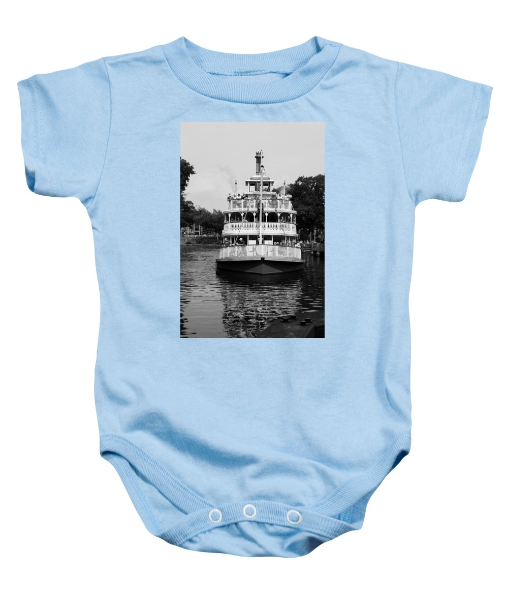 Walt Disney World Baby Onesie featuring the photograph Mississippi Steam Boat by Rob Hans