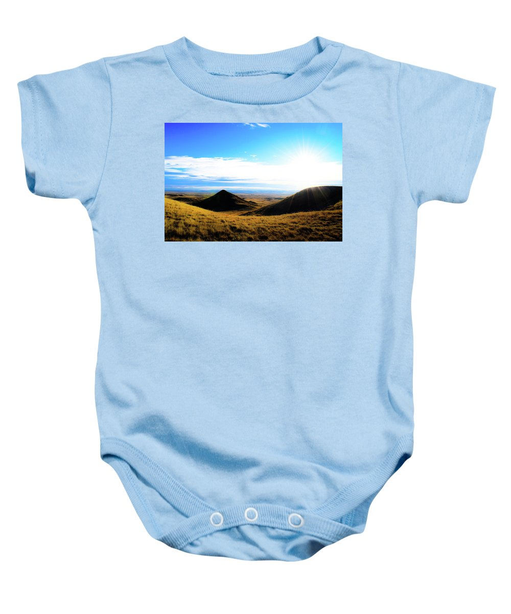 Baby Onesie featuring the photograph Montana by Mark Sepolio