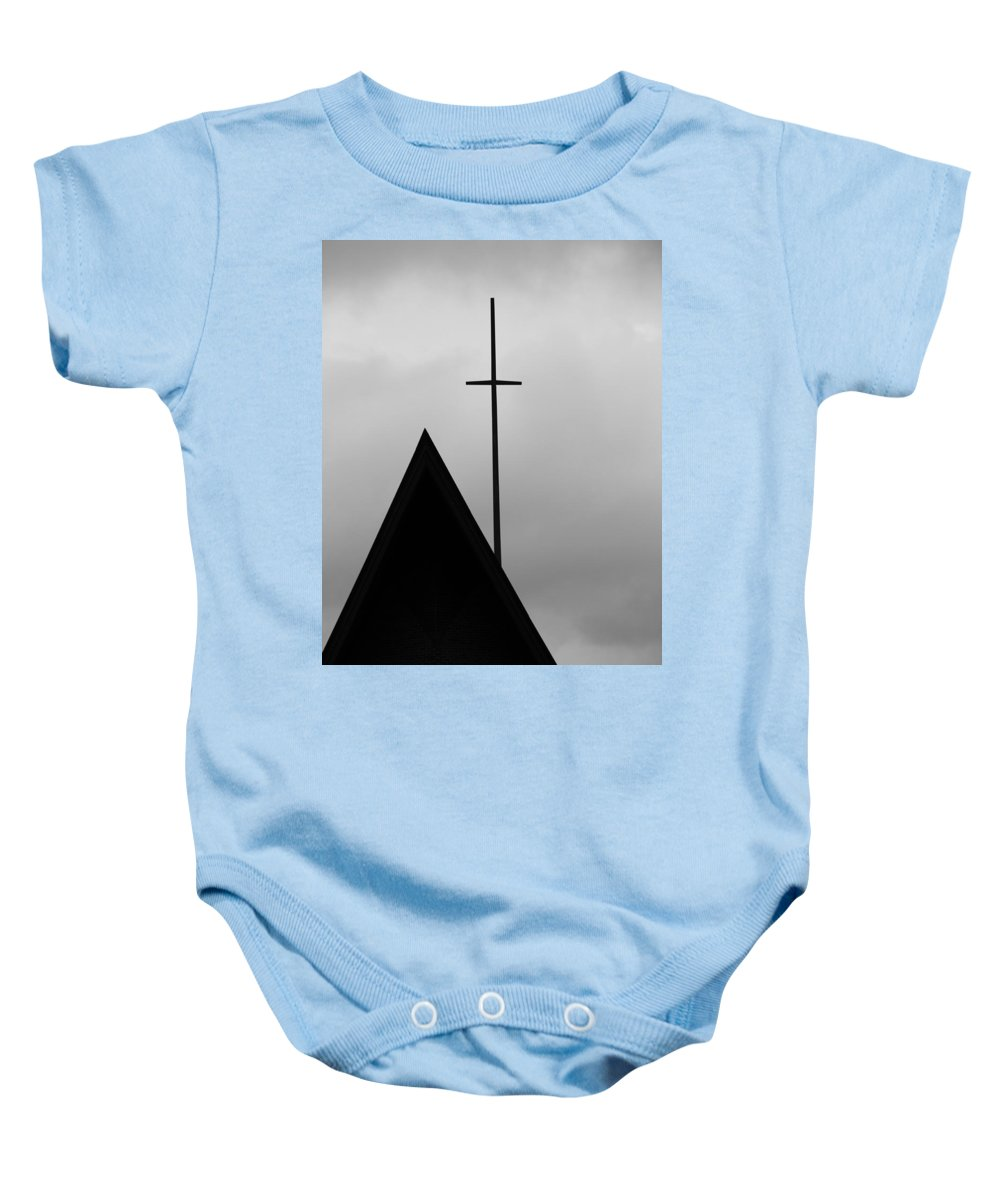 Moody Sunday Morning Baby Onesie featuring the photograph Moody Sunday Morning by Dan Sproul
