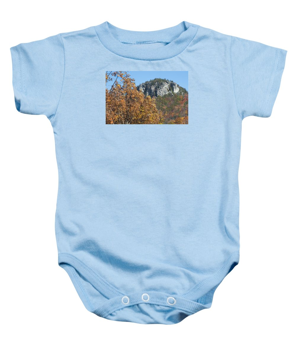 Autumn Baby Onesie featuring the photograph Moore's Knob by Dennis Ludlow