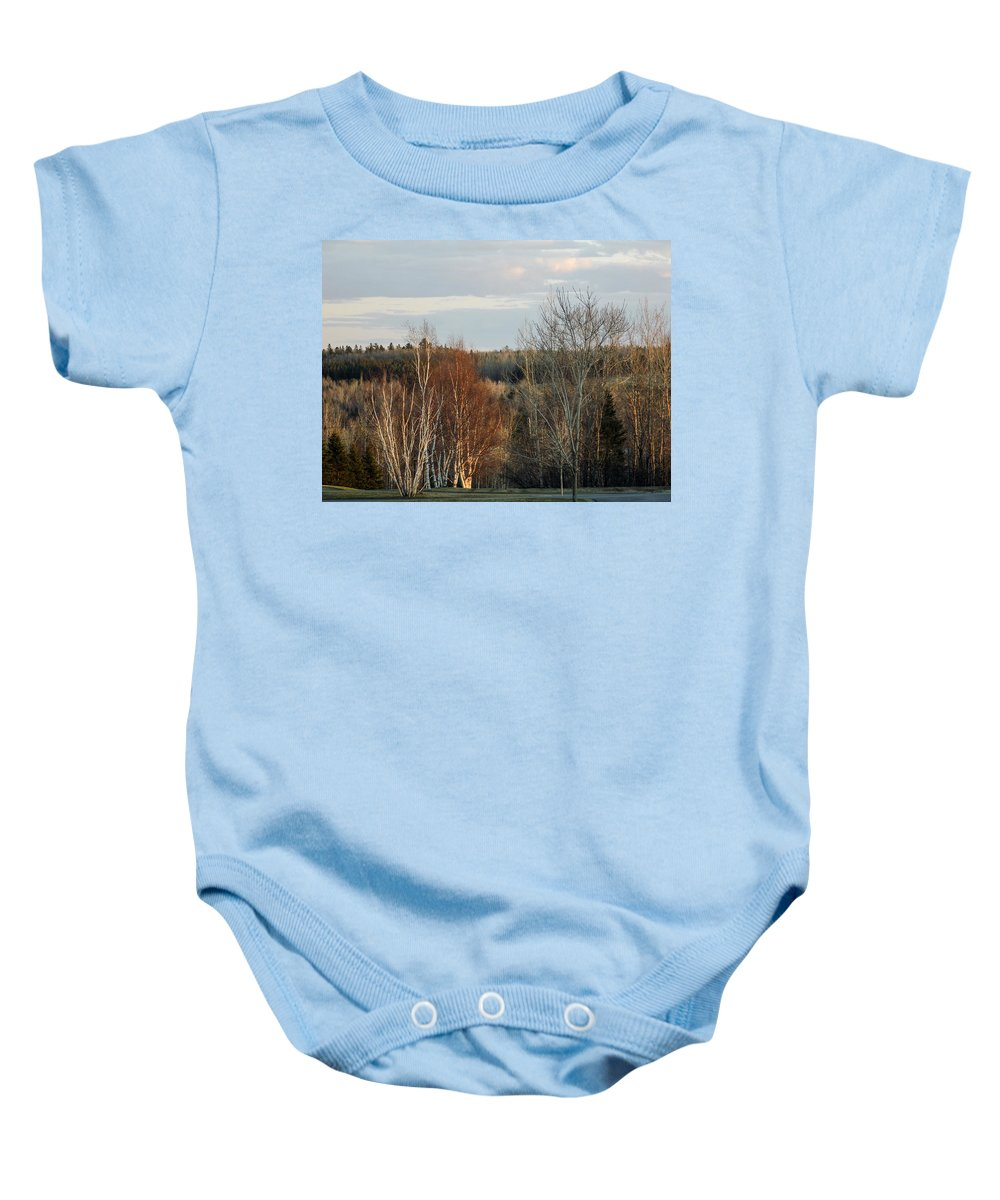 Sunset Baby Onesie featuring the photograph More Sunset Light by William Tasker