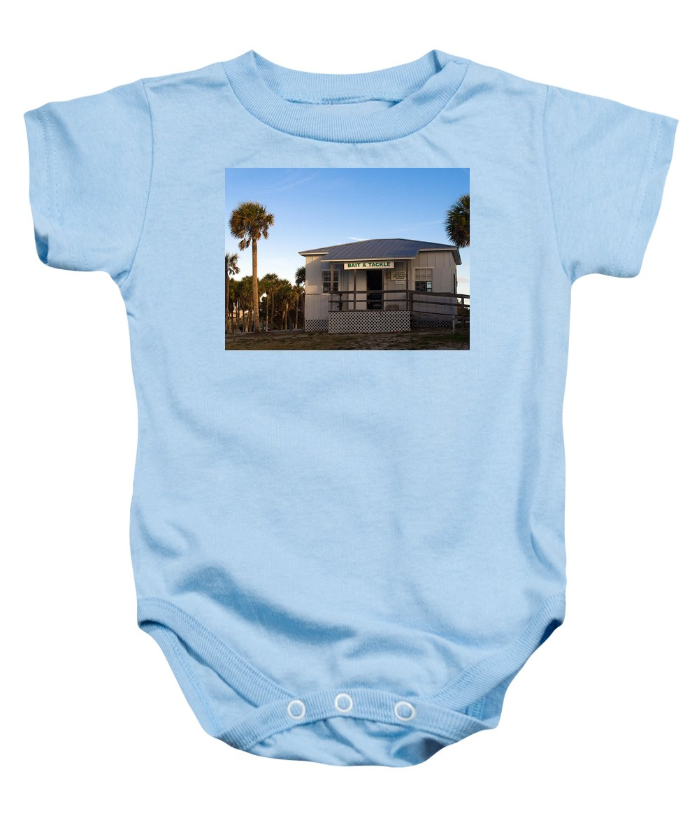 Morning Baby Onesie featuring the photograph Morning At Sebastian Inlet In Florida by Allan Hughes