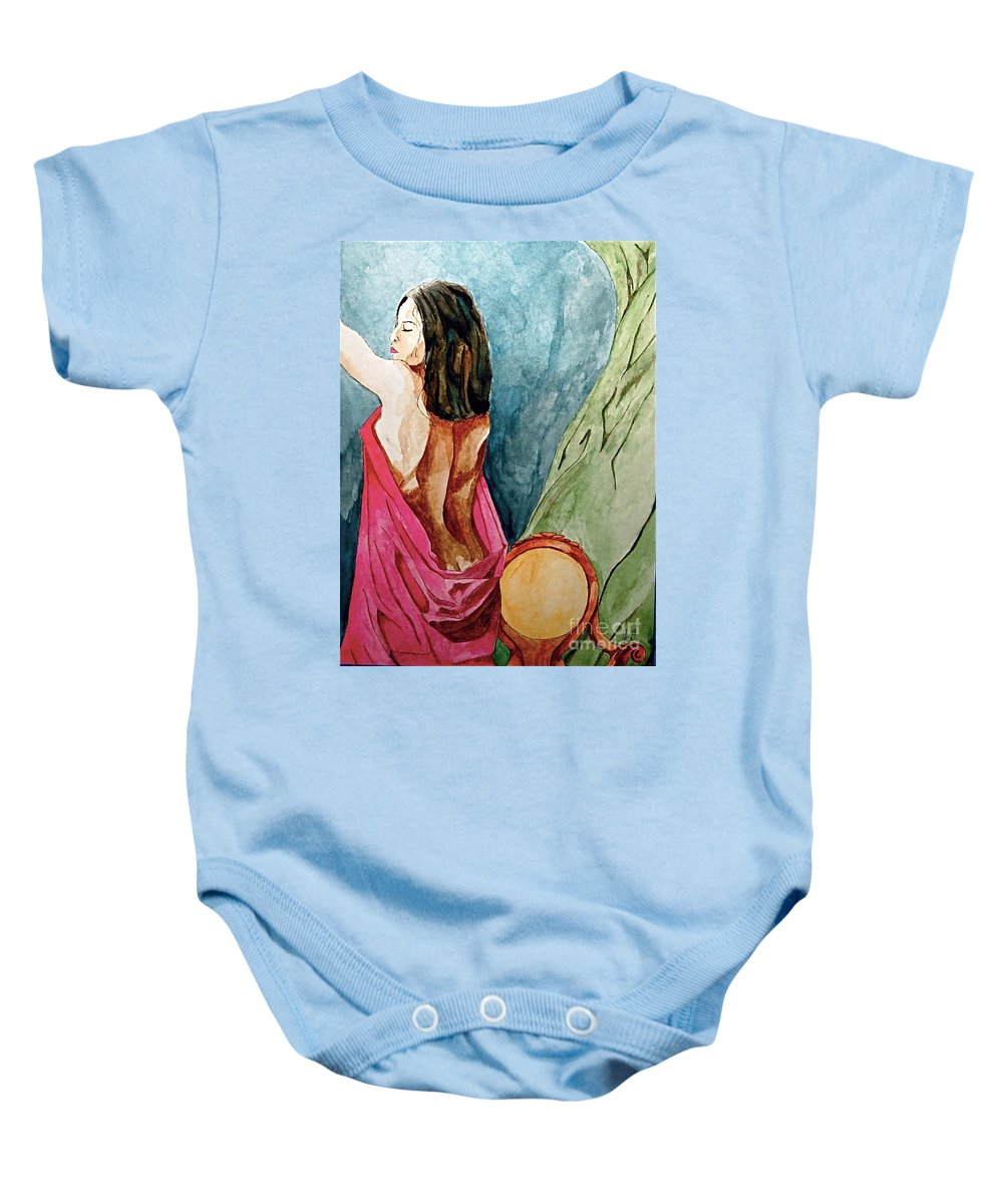 Nudes Women Baby Onesie featuring the painting Morning Light by Herschel Fall