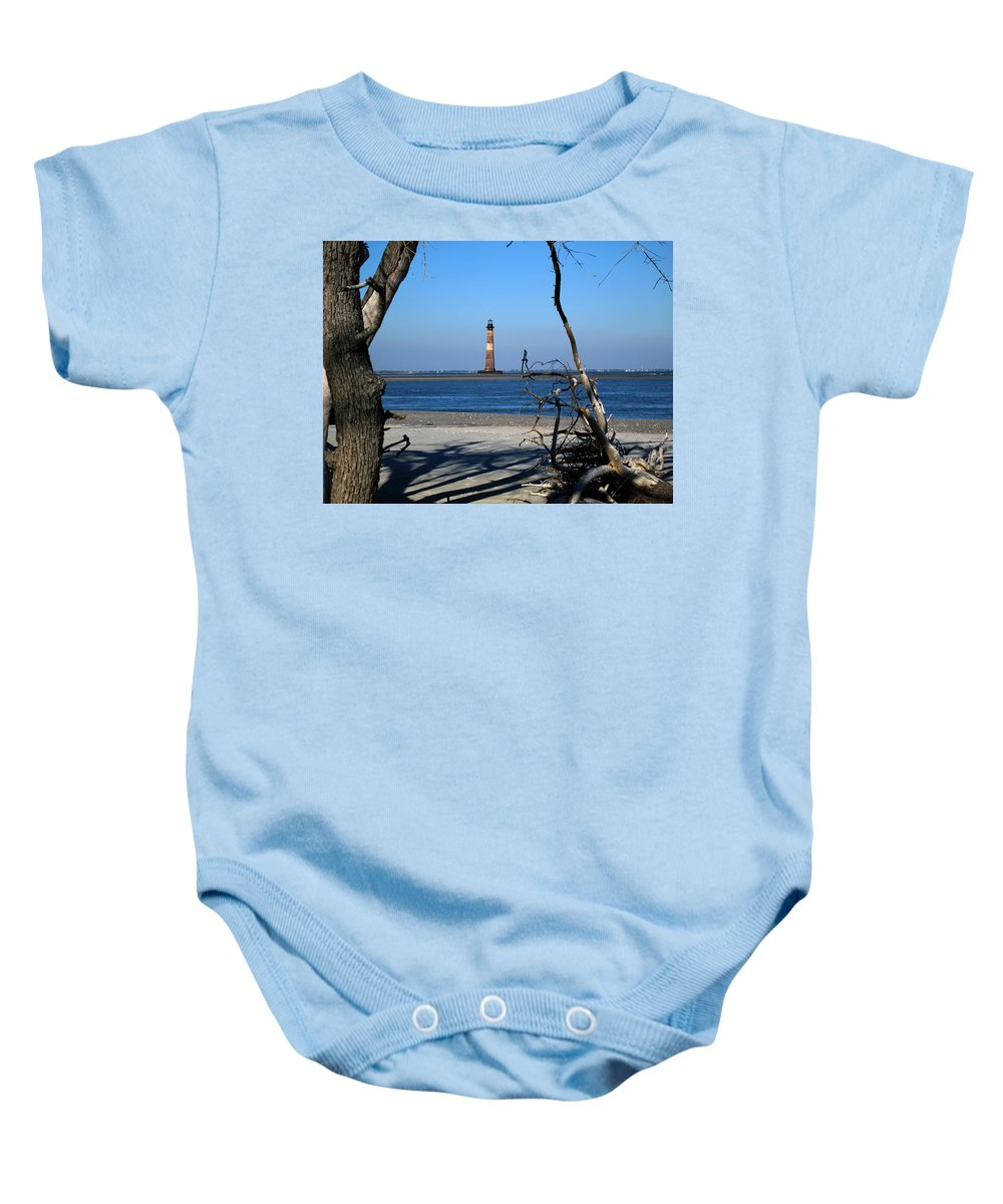 Photography Baby Onesie featuring the photograph Morris Island Lighthouse Charleston Sc by Susanne Van Hulst