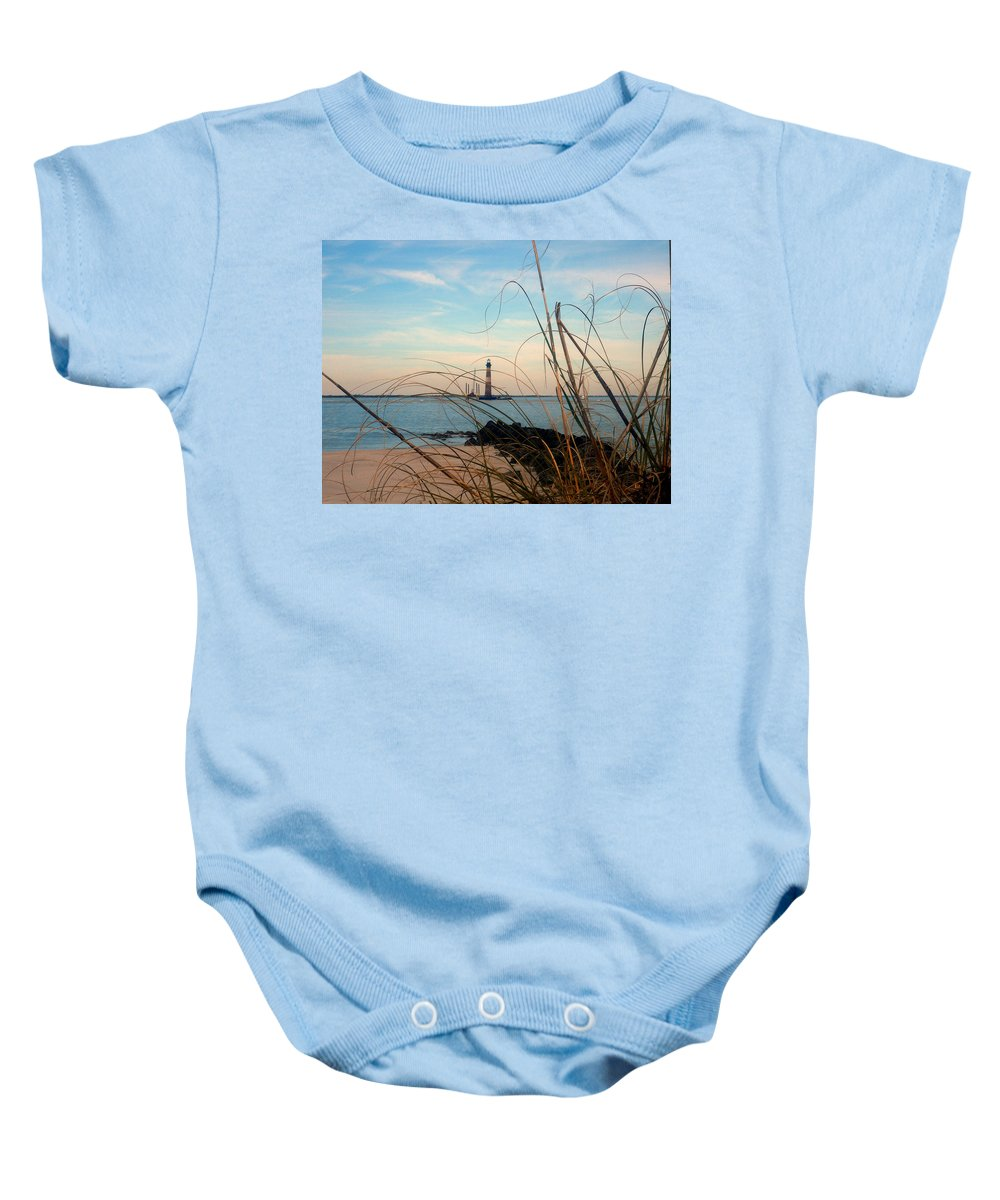 Photography Baby Onesie featuring the photograph Morris Island Lighthouse In Charleston Sc by Susanne Van Hulst