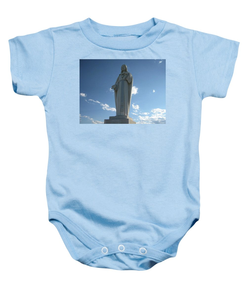 Baby Onesie featuring the photograph Mother Cabrini Shrine by Rocky Washington