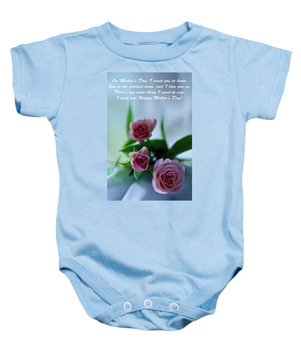 Cards Baby Onesie featuring the photograph Mother's Day Card 1 by Michael Cummings