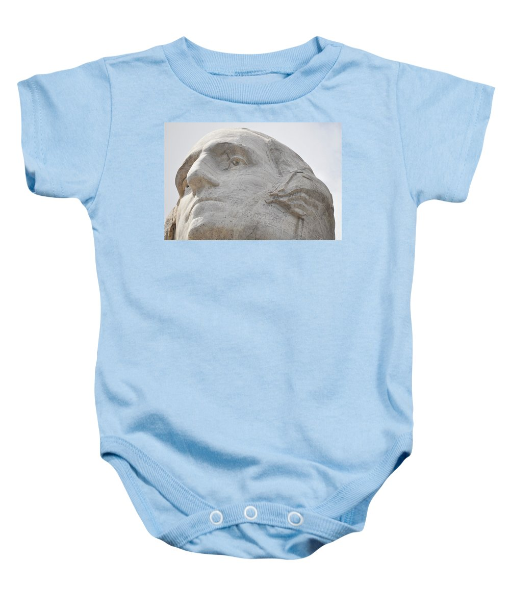 Mount Rushmore National Memorial Baby Onesie featuring the photograph Mount Rushmore George Washington by Kyle Hanson
