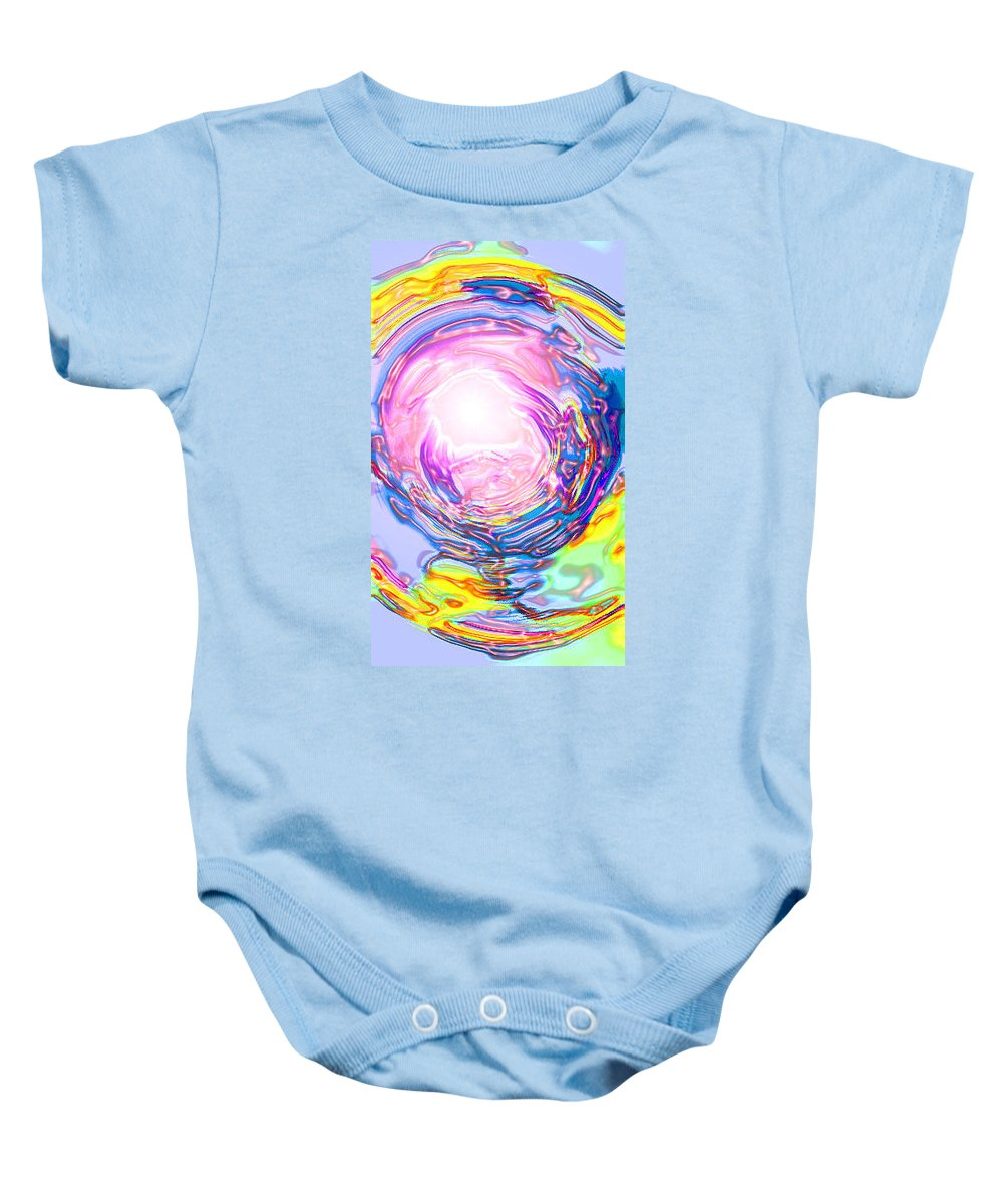 Moveonart! Digital Gallery Baby Onesie featuring the digital art Moveonart Deeper Calling by Jacob Kanduch