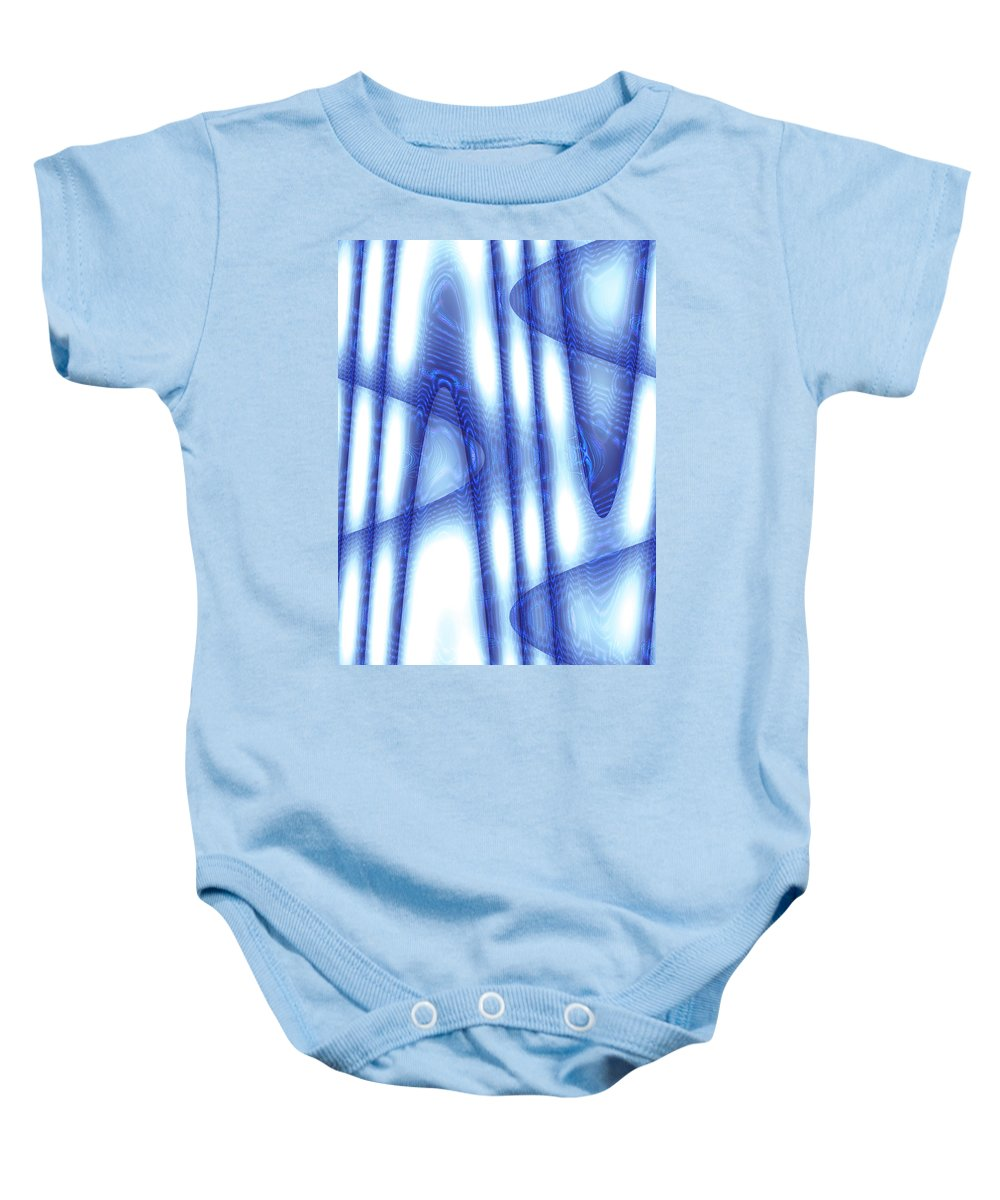 Moveonart Digital Gallery San Francisco California Lower Nob Hill Jacob Kane Kanduch Baby Onesie featuring the digital art Moveonart The Cooling Therapy by Jacob Kanduch