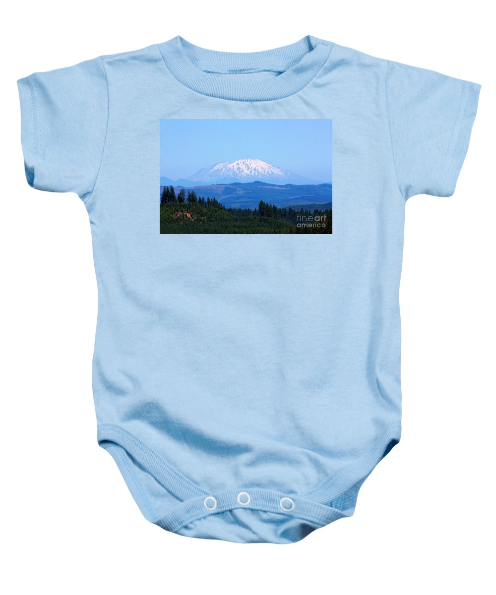 Mountains Baby Onesie featuring the photograph Mt. St. Helens by Nick Gustafson