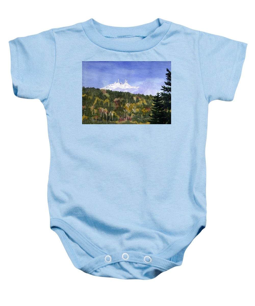 Landscape Baby Onesie featuring the painting Almost Mystical by Sharon E Allen