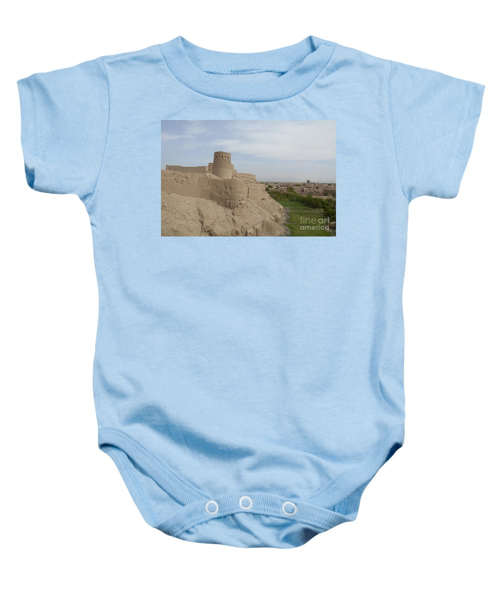 World Destination Baby Onesie featuring the photograph Narin Qaleh Narin Castle, Iran by Catherine Ursillo