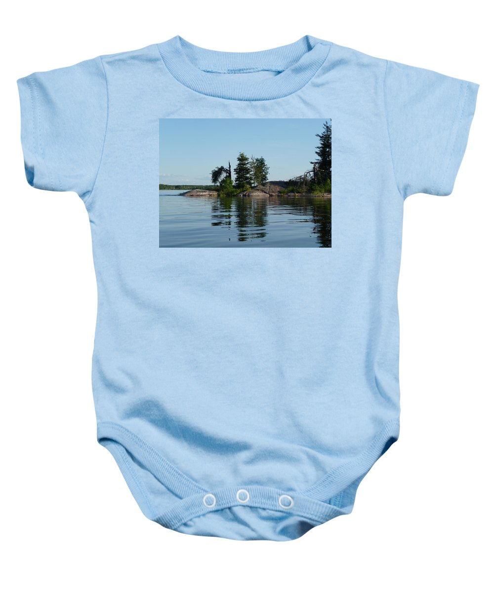 Lake Baby Onesie featuring the photograph Natural Breakwater by Ruth Kamenev