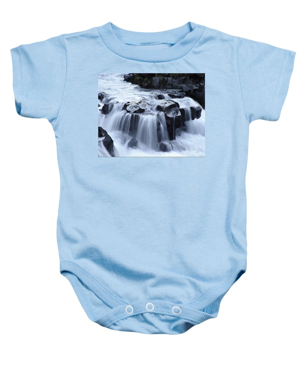 Waterfall Baby Onesie featuring the photograph Natural Bridges Falls 02 by Peter Piatt