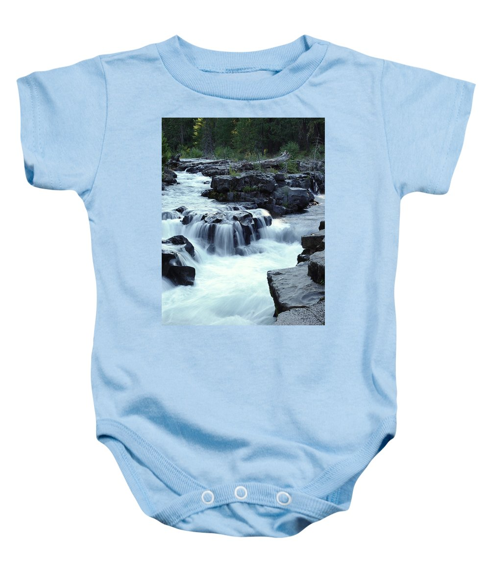 Waterfall Baby Onesie featuring the photograph Natural Bridges Falls 03 by Peter Piatt