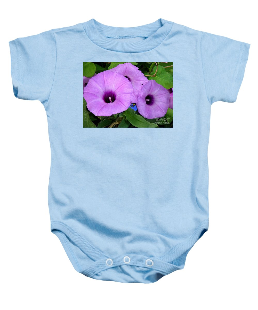 Nature Baby Onesie featuring the photograph Nature In The Wild - Morning Bells by Lucyna A M Green