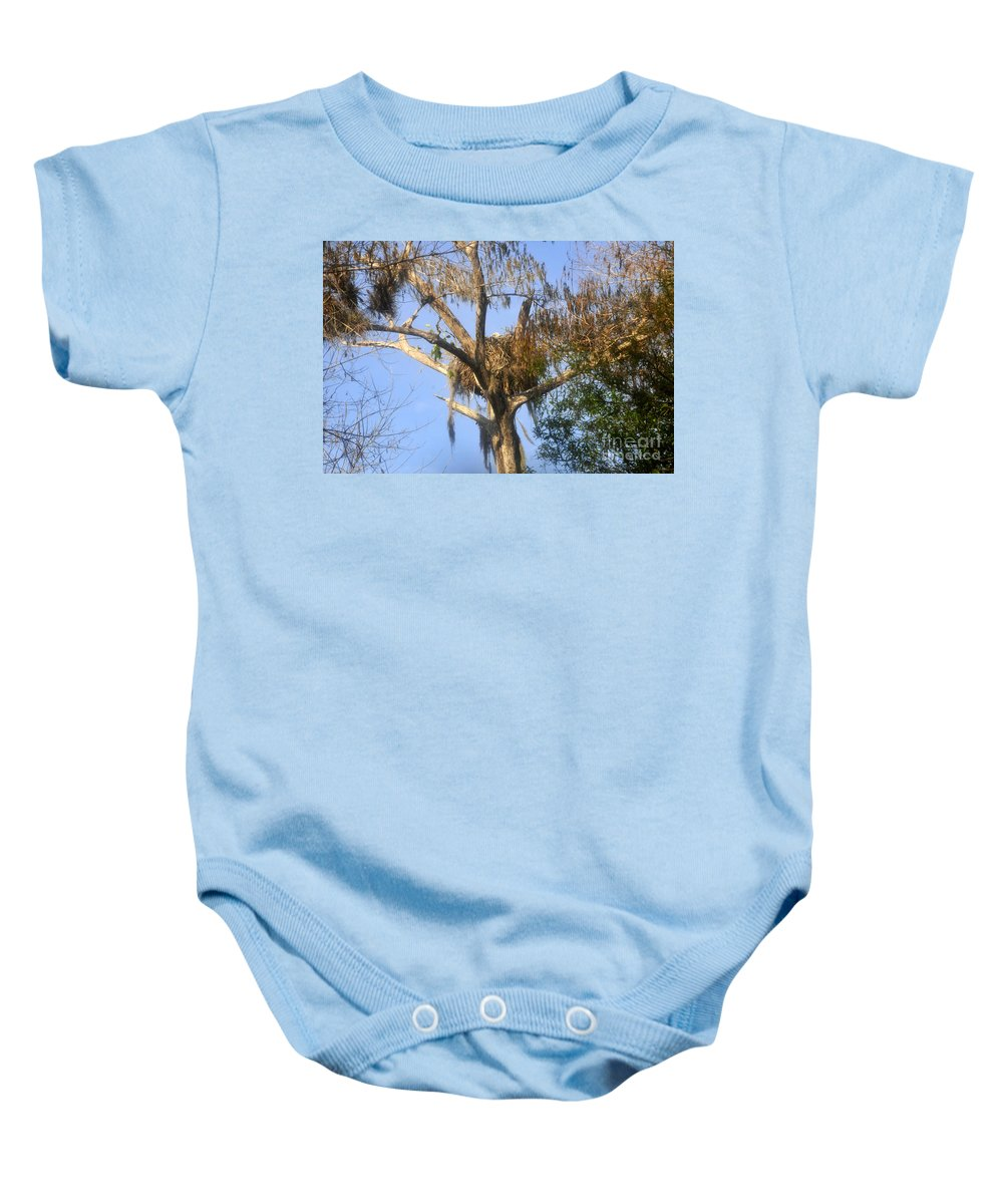 Bald Eagle Baby Onesie featuring the photograph Nesting Up by David Lee Thompson