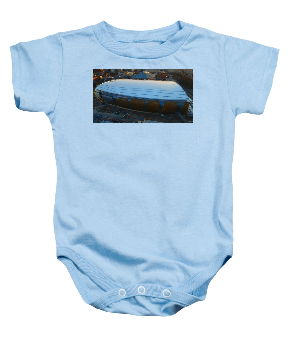 Milwaukee Bucks Baby Onesie featuring the photograph New Arena by Steve Bell
