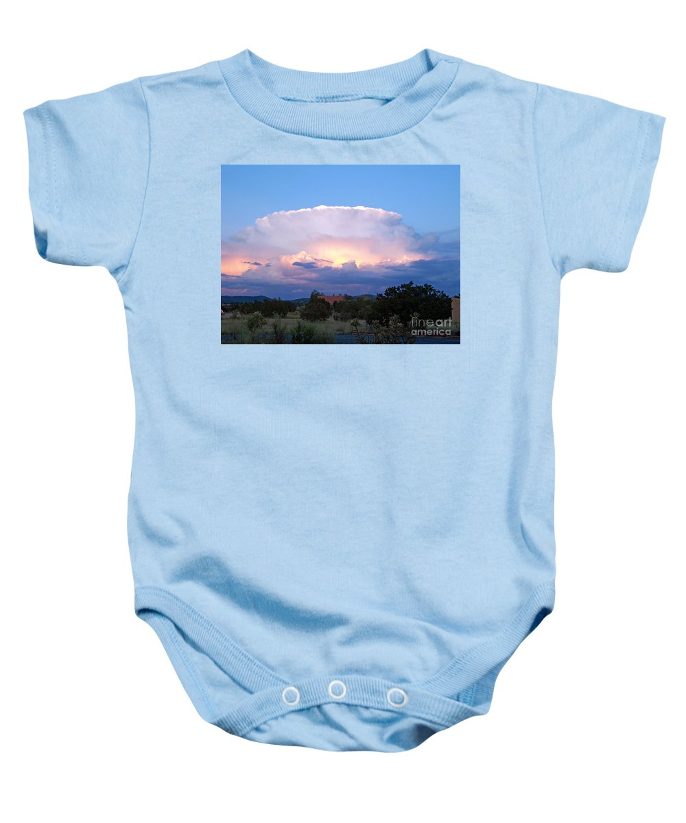 Sky Baby Onesie featuring the photograph New Mexico - The Bomb by Brian Commerford