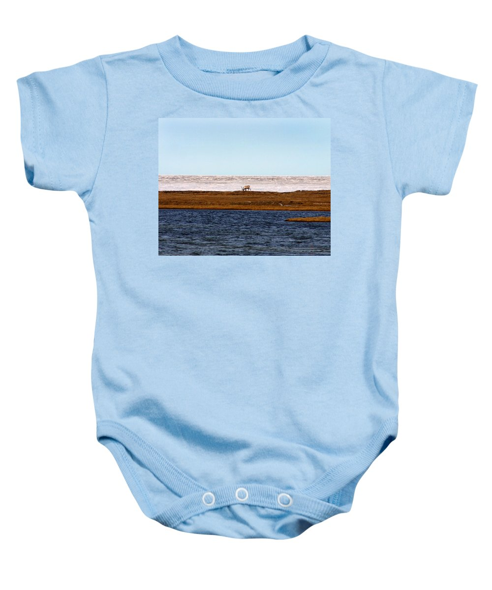 Arctic Baby Onesie featuring the photograph North Slope by Anthony Jones