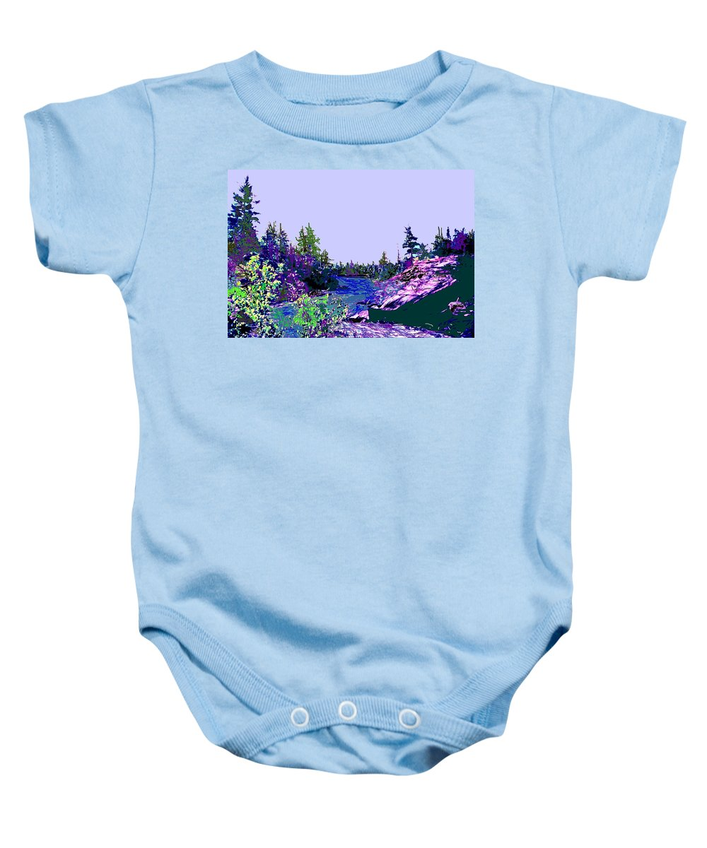 Norlthern Baby Onesie featuring the photograph Northern Ontario River by Ian MacDonald