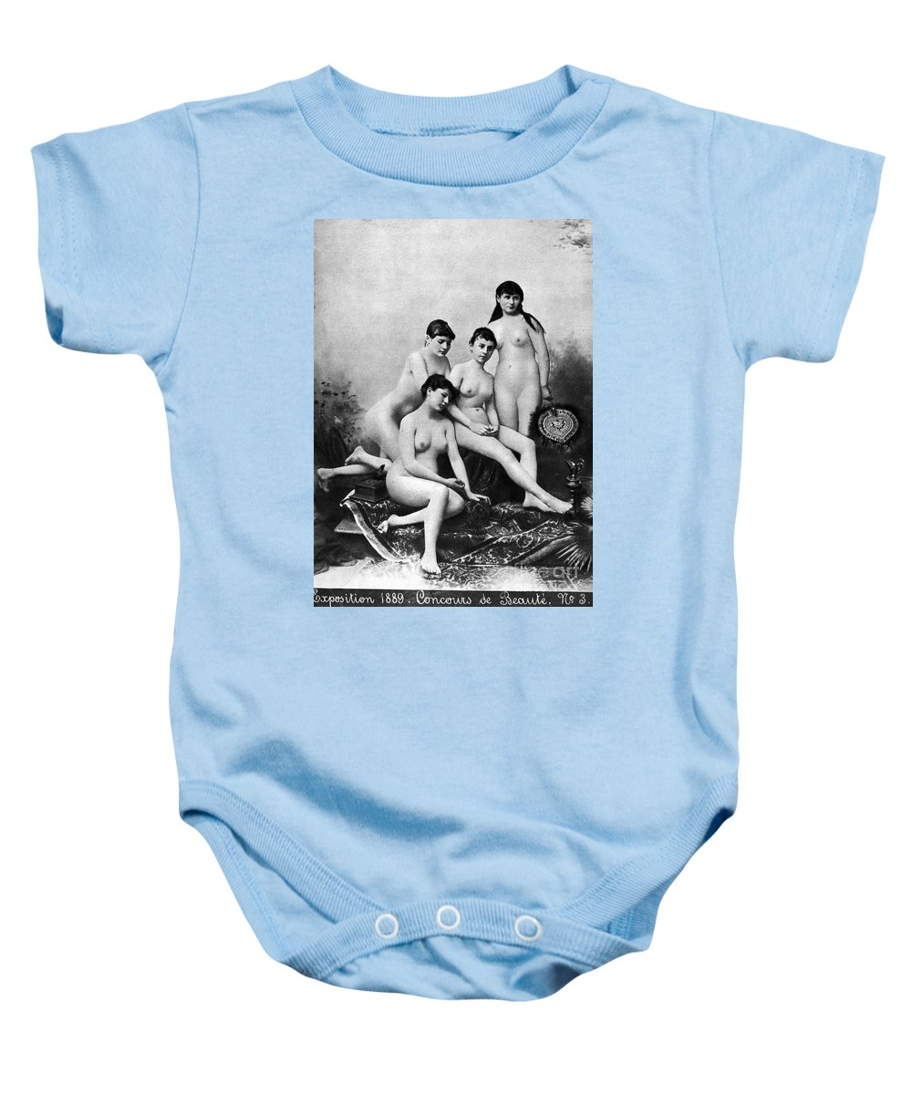 1889 Baby Onesie featuring the photograph Nude Group, 1889 by Granger